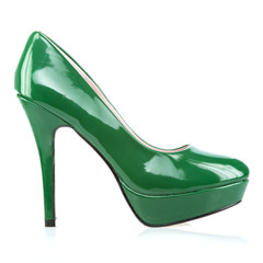 Elegant platform High Heels shoes in green