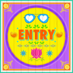 Entry Poster