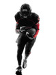 american football player runner running  silhouette