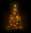 Abstract light Christmas tree eps10