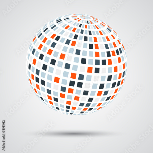 Abstract color sphere