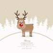 reindeer merry christmas winter background