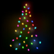 Christmas tree lights eps10