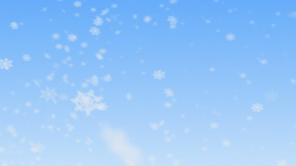 Snowflakes falling. HD 1080. Seamless Loop