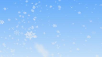 Snowflakes falling. HD 1080. Seamless Loop