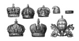 8 Various Crowns - Historic