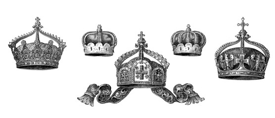 5 Various historic Royal Crowns