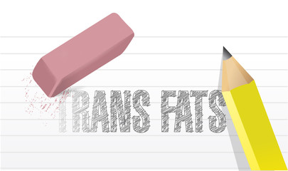 erase trans fats concept illustration design