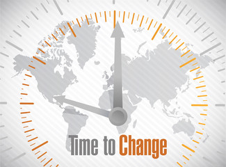 time to change world map illustration design
