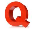 3d red letter- Q