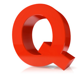 3d red letter- Q