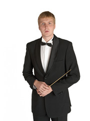 Music conductor portrait