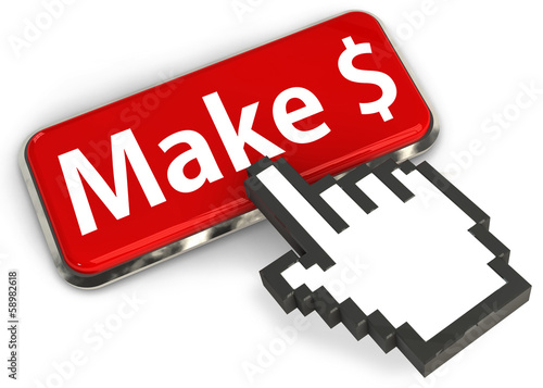 Make money - Internet earning concept