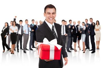 businessman present