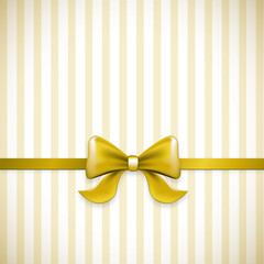 Striped Gold Bow