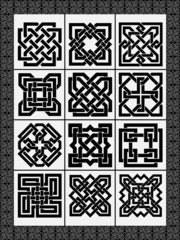 Set celtic traditional signs