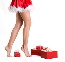 beautifu llegs of christmas girl