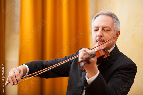 Man playing a violin