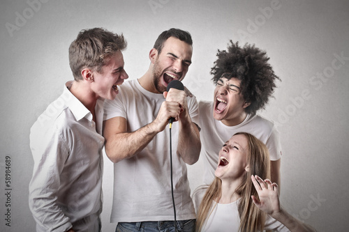 Friends Singing