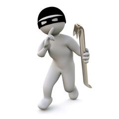 3D Man burglar