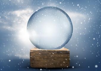 Old World Vintage Snow Globe