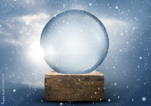 Old World Vintage Snow Globe