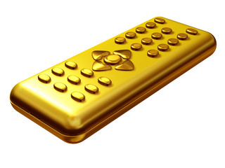 golden remote control bottom view