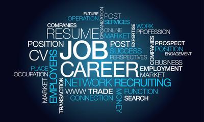 Job carrer profession network recruiting tag cloud
