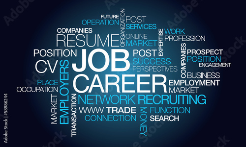 Job carrer profession network recruiting tag cloud