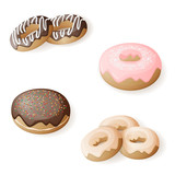 set of isolated donuts