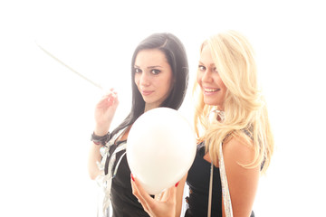 Frauen mit Luftballon