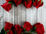 Fototapeta card with roses
