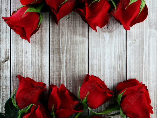 canvas print picture card with roses