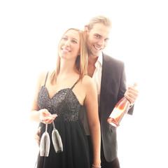 Paar in Partylaune