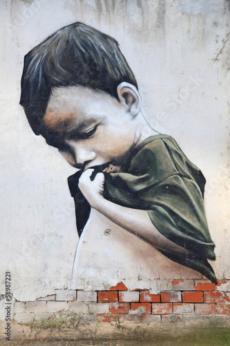 graffiti niño pobre 0164f