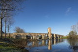 Medieval bridge of Frias, Burgos, Castilla, Spain. poster