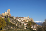 Panoramic views of city and castle of Frias, Burgos, Castilla, S poster