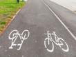 Markierter Radweg