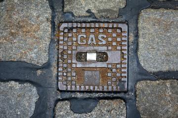 Deckel zur Gasleitung