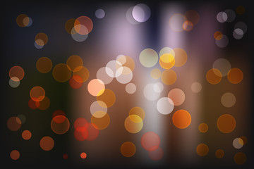 Bokeh light vintage background, Vector eps10