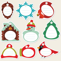 Winter gift tags