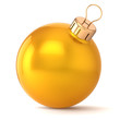 Christmas ball New Years Eve bauble decoration gold golden