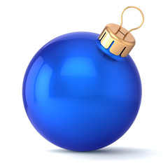 Christmas ball New Years Eve bauble blue wintertime icon