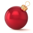 Christmas ball New Years Eve bauble decoration red ornament
