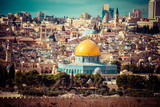 View of Jerusalem,The Dome of the Rock,mount of Olives,Israel