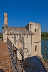 Chapel of Saint-Nicolas on Saint-Benezet bridge. Avignon, France