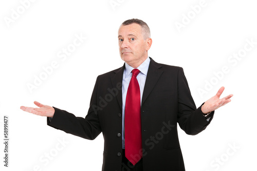 Businessman with open arms