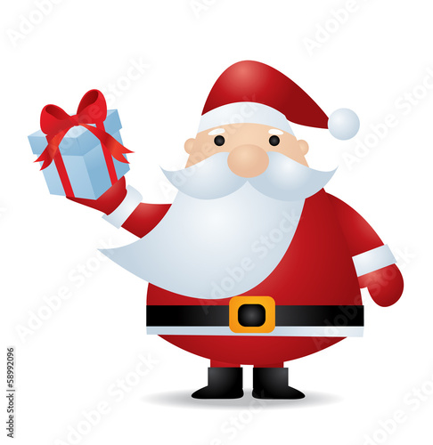 Santa Claus. Vector illustration for retro card