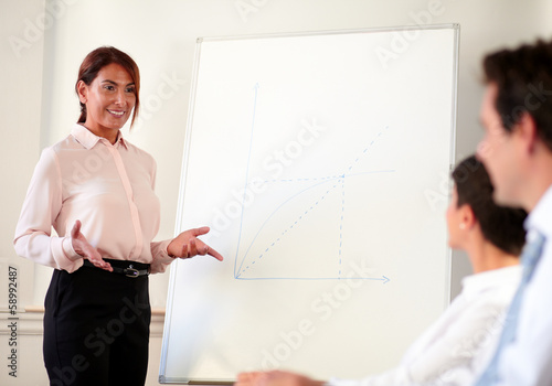 Female executive working on her presentation
