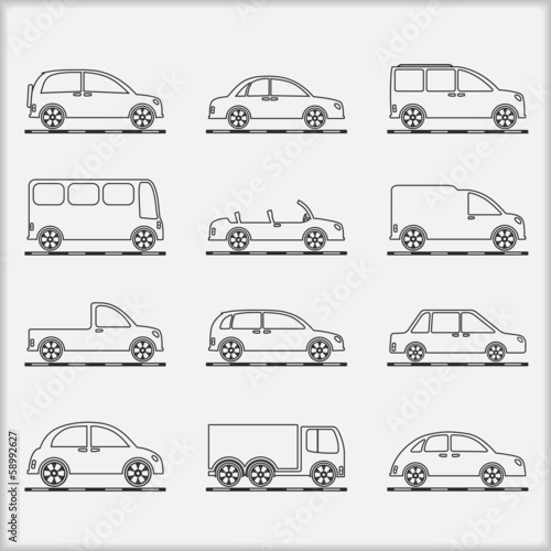 Cars Outline Icons